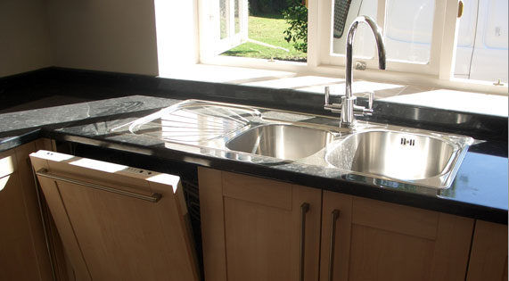 Frankie Black Sink : George Glover - Specialist in Kitchens, Bathrooms, Tiling & Joinery